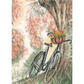 Kit Punto Croce - Lanarte - Bici con il cestino di fiore