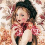 Kit Punto Croce - Lanarte - I hold Roses