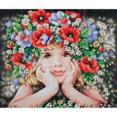 Kit ricamo diamante - Lanarte - Ragazza di fiori