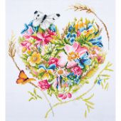 Kit ricamo diamante - Lanarte - Un cuore di fiori