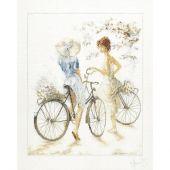 Kit Punto Croce - Lanarte - Ragazze con bicicletta