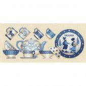 Kit Punto Croce - Le Bonheur des Dames - Stoviglie blu