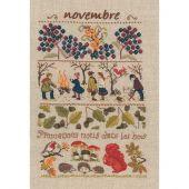 Kit Punto Croce - Le Bonheur des Dames - Novembre