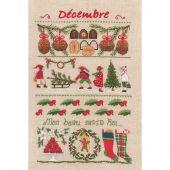 Kit Punto Croce - Le Bonheur des Dames - Dicembre