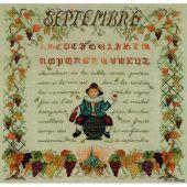 Kit Punto Croce - Le Bonheur des Dames - Septembre
