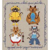 Kit Punto Croce - Le Bonheur des Dames - Gatti di mare