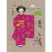 Kit Punto Croce - Le Bonheur des Dames - Kimono rosa