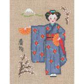 Kit Punto Croce - Le Bonheur des Dames - Kimono blu