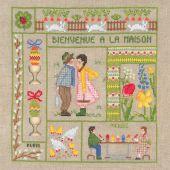 Kit Punto Croce - Le Bonheur des Dames - Benvenuti - Aprile