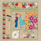 Kit Punto Croce - Le Bonheur des Dames - Benvenuti - Agosto