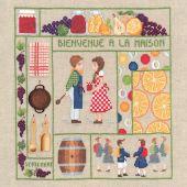 Kit Punto Croce - Le Bonheur des Dames - Benvenuto - settembre