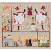 Kit Punto Croce - Le Bonheur des Dames - Parigi felicità