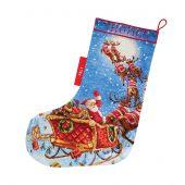 Kit calza di Natale da ricamare - Letistitch - Renna in arrivo