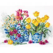 Kit Punto Croce - Luca-S - Giardino di primavera