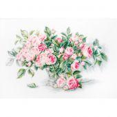 Kit Punto Croce - Luca-S - Mazzo di fiori rosa