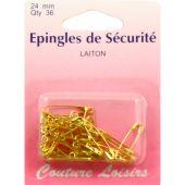spilla - Couture loisirs - Spille di sicurezza dorate - 24 mm