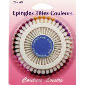 spilla - Couture loisirs - Alfileres con cabeza colorada