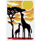 Kit Punto Croce - Luc Créations - Giraffe