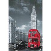 Kit Punto Croce - Nova Sloboda - Cuscino da ricamare Londra