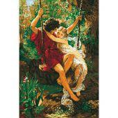 Kit Punto Croce - Ladybird - Amanti su un'altalena