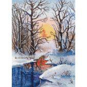 Kit Punto Croce - Oven - Ruscello d'inverno