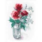 Kit Punto Croce - Oven - Rose e bacche di neve