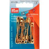spilla - Prym - 12 Spine di sicurezza in ottone n°1 a 3
