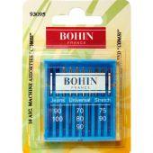 Aghi per macchine da cucire - Bohin - 10 aghi assortiti standard 90/100 - 70/80/90/ - 75/90