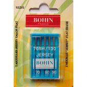 Aghi per macchine da cucire - Bohin - 5 aghi jersey 70/80/90