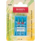 Aghi per macchine da cucire - Bohin - 2 aghi doppio twin