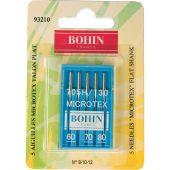 Aghi per macchine da cucire - Bohin - 5 aghi Microtex 60/70/80