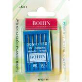 Aghi per macchine da cucire - Bohin - 5 aghi filo metallizzato 80/90
