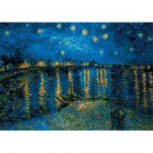 Kit Punto Croce - Riolis - Notte stellata sul Rodano - Van Gogh