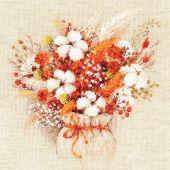 Kit Punto Croce - Riolis - Bouquet di lagune e fiori di cotone