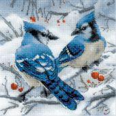 Kit Punto Croce - Riolis - Ghiandaie blu