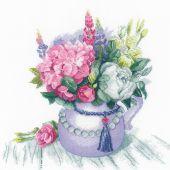 Kit Punto Croce - Riolis - Fascino floreale