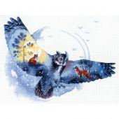 Kit Punto Croce - Riolis - Nella foresta della notte