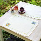 Kit set da tavolo da ricamare - Vervaco - Volpe