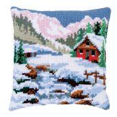 Kit cuscino fori grossi - Vervaco - Paesaggio d'inverno