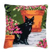 Kit cuscino fori grossi - Vervaco - Gatto tra i fiori 1