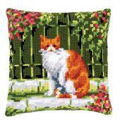 Kit cuscino fori grossi - Vervaco - Gatto tra i fiori 2
