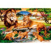 Kit ricamo diamante - Wizardi - Famiglia di leoni