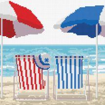 Kit Punto Croce - Marie Coeur - Duo di mare