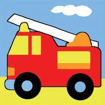 Kit di tela per bambini - Margot de Paris - il camion dei pompieri