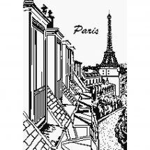 Kit Punto Croce - Marie Coeur - Tetti di Parigi