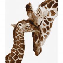 Kit Punto Croce - Marie Coeur - Giraffa e la sua giraffa