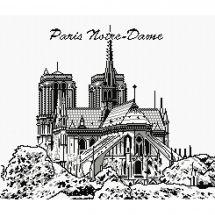 Kit Punto Croce - Marie Coeur - notre dame