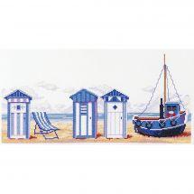 Kit Punto Croce - Marie Coeur - Cabine da spiaggia