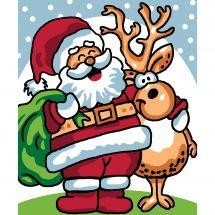 Kit di tela per bambini - Luc Créations - Babbo Natale e renne