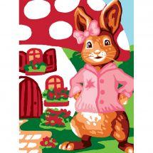 Kit di tela per bambini - Luc Créations - Signora Coniglio